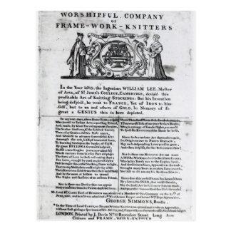 A los Worshipful Company de Marco-Trabajo-Calceter Postales