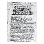 A los Worshipful Company de Tarjetas Postales