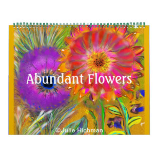 A Lot of Abundant Flowers Calendar