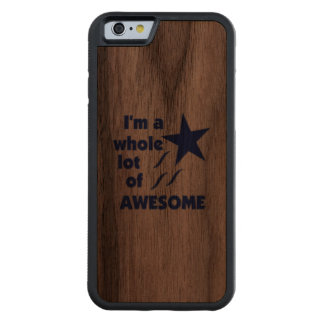 A Lot of Awesome Carved Walnut iPhone 6 Bumper Case