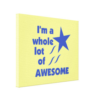 A Lot of Awesome - Yellow Background Canvas Print