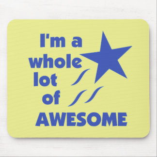 A Lot of Awesome - Yellow Background Mouse Pads