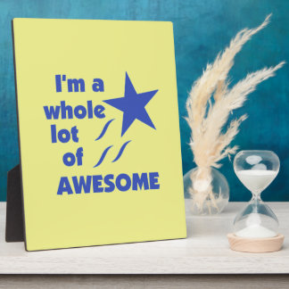 A Lot of Awesome - Yellow Background Plaques
