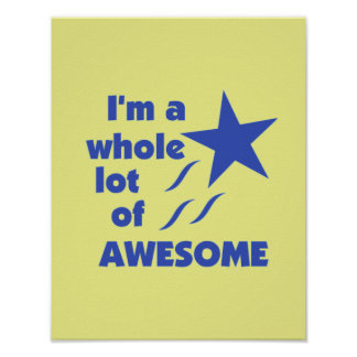 A Lot of Awesome - Yellow Background Print