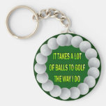 A LOT OF BALLS GOLF HUMOR KEYCHAIN