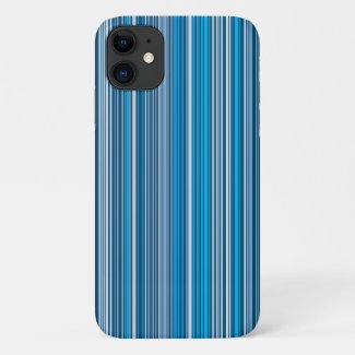 A lot of blue stripes iPhone 11 case