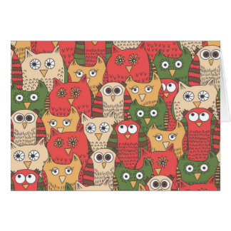 A lot of cute owls card