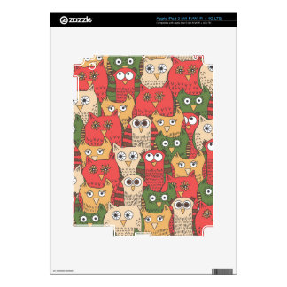 A lot of cute owls skin for iPad 3