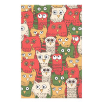 A lot of cute owls stationery