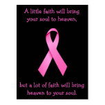 A Lot Of Faith Cancer Awareness Postcard