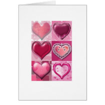 hearts, love, couple, feelings, pink, cute, infatuation, care, tender, Card with custom graphic design