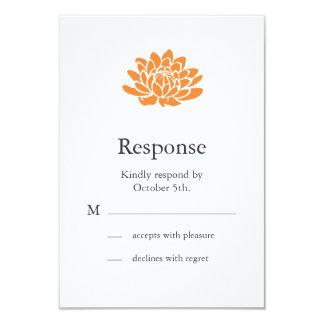 A Lotus Flower RSVP (orange) 3.5x5 Paper Invitation Card