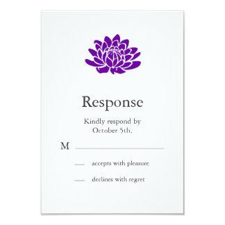 A Lotus Flower RSVP (purple) 3.5x5 Paper Invitation Card