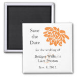 A Lotus Flower Save the Date Magnet (orange)