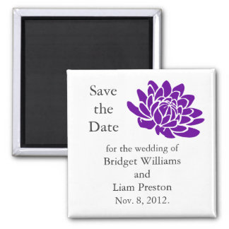A Lotus Flower Save the Date Magnet (purple)