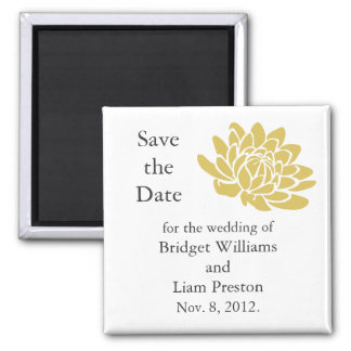 A Lotus Flower Save the Date Magnet (yellow)