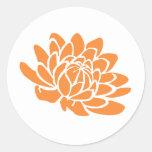 A Lotus Flower Sticker (orange)