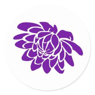 A Lotus Flower Sticker (purple) sticker