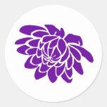A Lotus Flower Sticker (purple)
