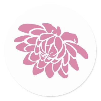 A Lotus Flower Sticker (white) sticker