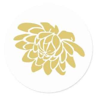 A Lotus Flower Sticker (yellow) sticker