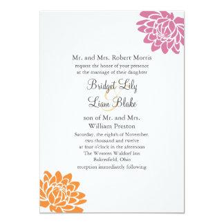 A Lotus Flower Wedding Invitation 2(orange)