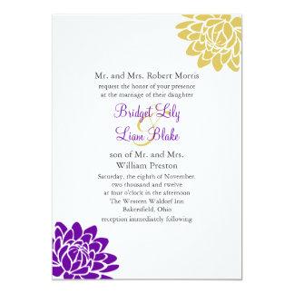 A Lotus Flower Wedding Invitation 2(purple)