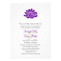 A Lotus Flower Wedding invitation (purple)
