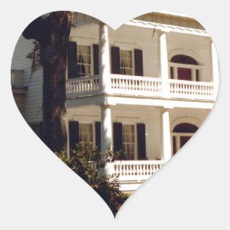 A Louisiana Plantation Heart Sticker