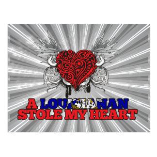A Louisianan Stole my Heart Postcard