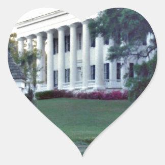 A Lousiana Plantation Heart Sticker