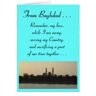 A love letter from Baghdad Card