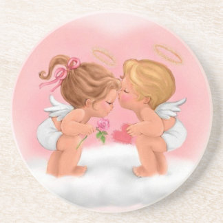 A love of angels - drink coaster