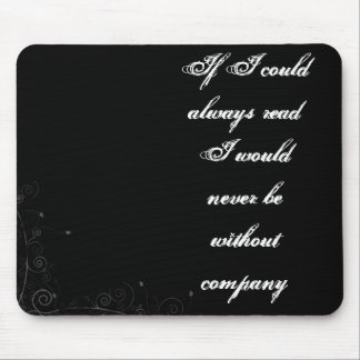 A love of reading mouse pad