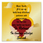 A Love Pledge Poster-Customize