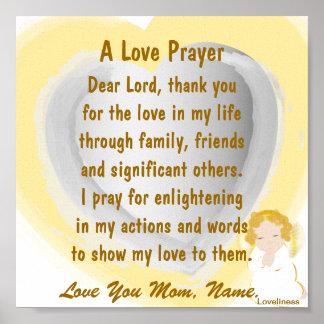 A Love Prayer Poster-Customize