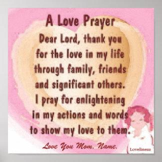 A Love Prayer Poster-Customize Poster