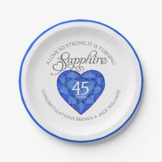 A love so strong sapphire wedding party plates