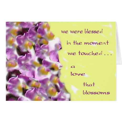 A Love that Blossoms Greeting Card
