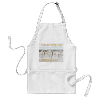 A lovely apron with horses on the beach.