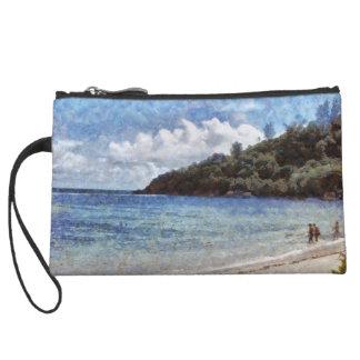 A lovely beach wristlet clutch