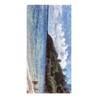 A lovely beach photo card