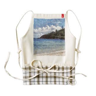 A lovely beach zazzle HEART apron