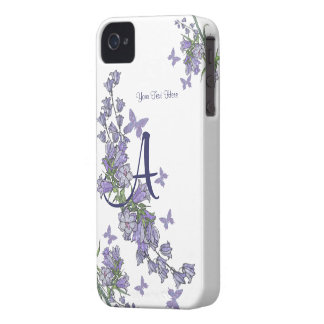 A - Lovely Blue Bells & Butterfly iPhone 4 Case