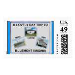 A LOVELY DAY TRIP TO BLUEMONT VIRGINIA POSTAGE STAMPS