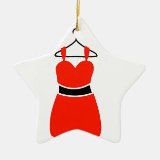 A lovely dress on a hanger ceramic ornament
