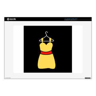 A lovely dress on a hanger decal for laptop