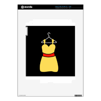 A lovely dress on a hanger decals for iPad 2