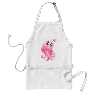 A lovely octopus monster adult apron
