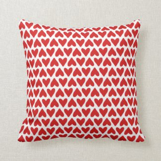 A Lovely Pattern of Hearts Throw Pillow